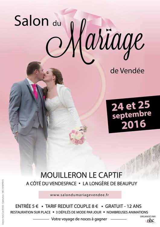 Salon du mariage de vendee 2016 for Salon de la photo 2016